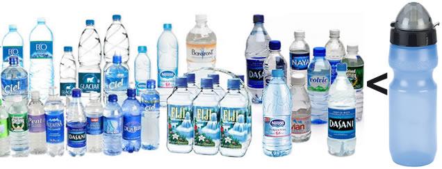 agua de marca contra agua buena