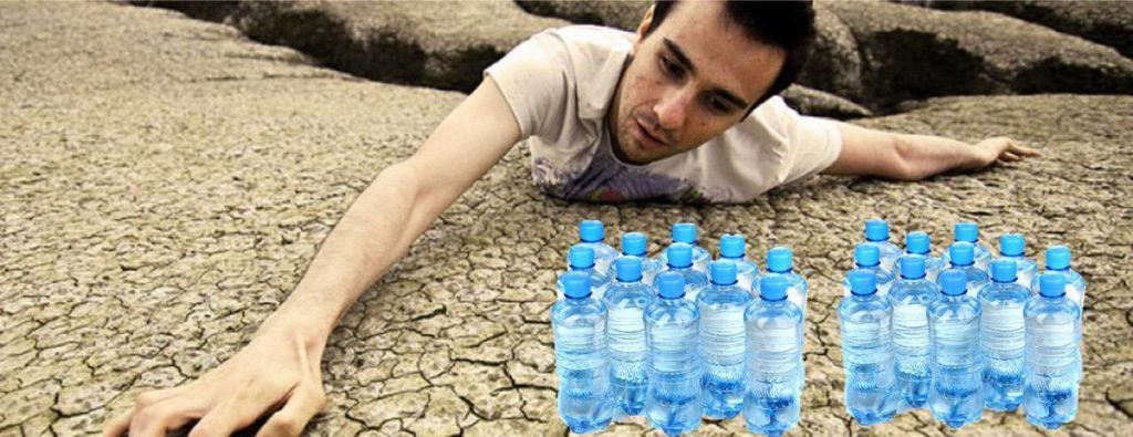 agua que deshidrata
